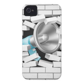 Megáfono que rompe la pared de ladrillo Case-Mate iPhone 4 carcasa