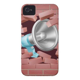 Megáfono que se rompe a través de la pared de iPhone 4 carcasas