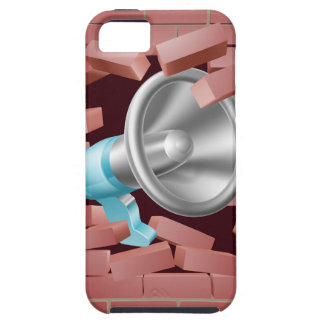 Megáfono que se rompe a través de la pared de iPhone 5 carcasa