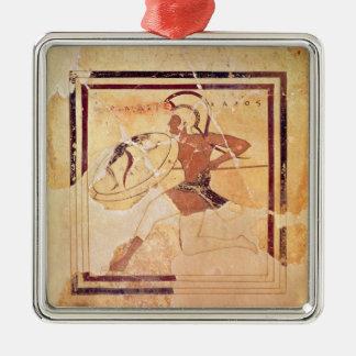 Megakles la feria, 500 A.C. Adorno Cuadrado Plateado