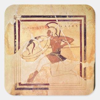 Megakles the Fair, 500 BC Square Sticker