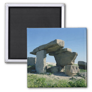 Megalith, prehistoric 2 inch square magnet