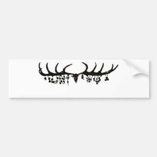 Megaloceros and Roses Bumper Sticker