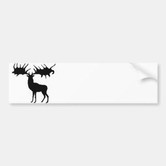 Megaloceros silhouette Bumper Sticker