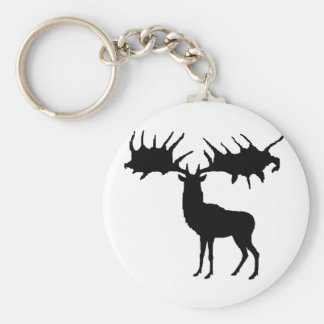 Megaloceros silhouette Keychain