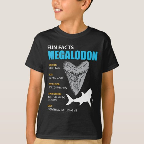 Megalodon tshirt great gift for shark enthusiasts