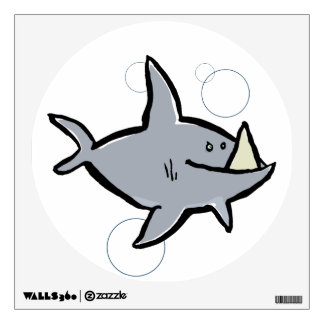 megalodon wall decal