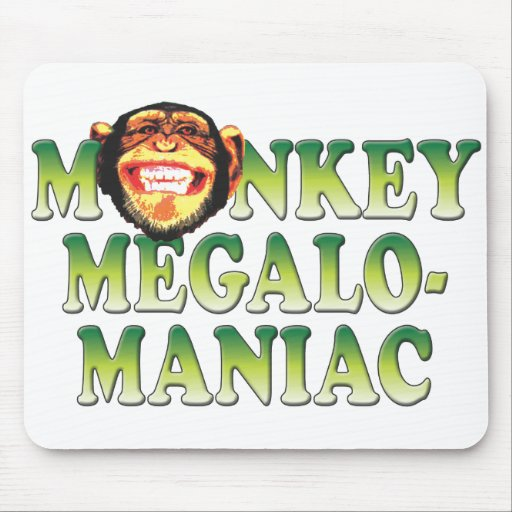 Megalomaniac del mono tapete de raton