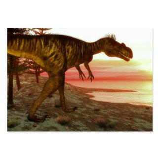 Megalosaurus dinosaur walking toward the ocean large business card
