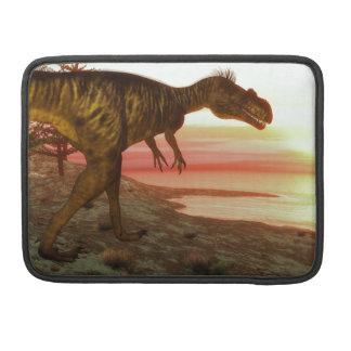 Megalosaurus dinosaur walking toward the ocean MacBook pro sleeve