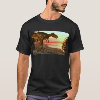 Megalosaurus dinosaur walking toward the ocean T-Shirt