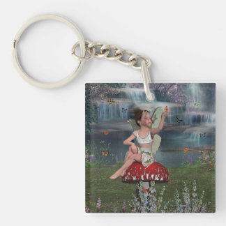 Megan, a Young Fairy Keychain