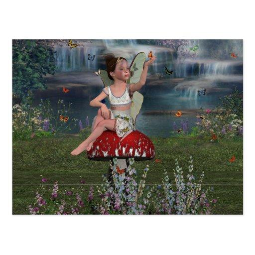 Megan a Young Fairy Postcard