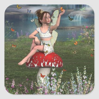Megan a Young Fairy Square Sticker