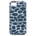 Megan Adams Animal Print Ikat Navy iPhone 5 Case