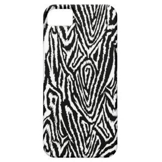 Megan Adams Zebra drawing print- black iPhone SE/5/5s Case