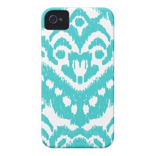 Megan Adams Zig Zag Ikat- turquoise iPhone 4 Covers