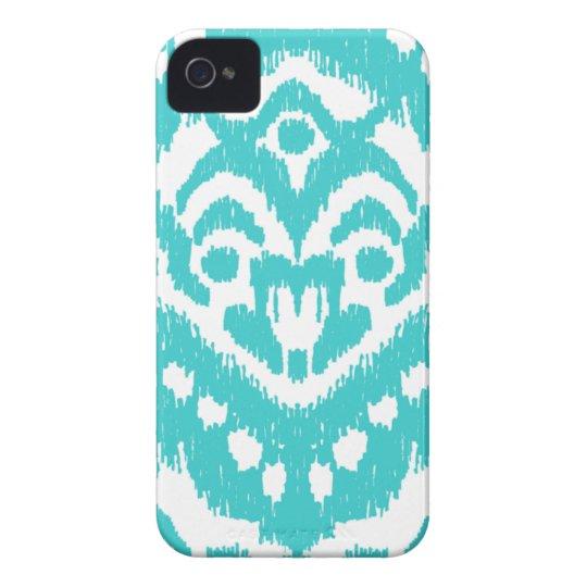 Megan Adams Zig Zag Ikat- turquoise iPhone 4 Case-Mate Case