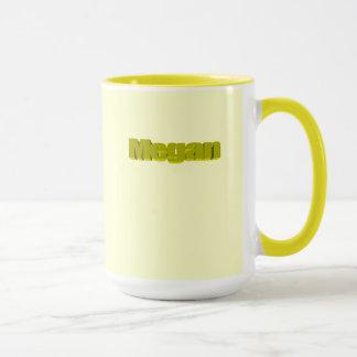 Megan coffee mug in yellow