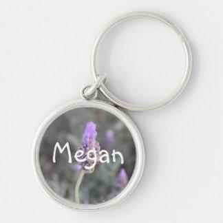 Megan Girls Name Lavender Keychain