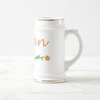 Megan (mariposa anaranjada) jarra de cerveza