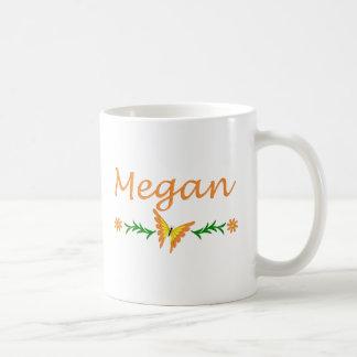 Megan (mariposa anaranjada) taza básica blanca