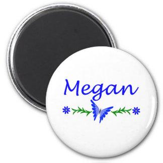 Megan (mariposa azul) imán redondo 5 cm