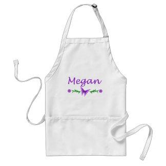 Megan (mariposa púrpura) delantal