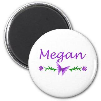 Megan (mariposa púrpura) imán redondo 5 cm