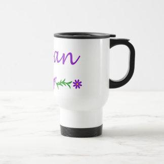 Megan (mariposa púrpura) taza de viaje de acero inoxidable
