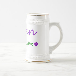 Megan (mariposa púrpura) jarra de cerveza