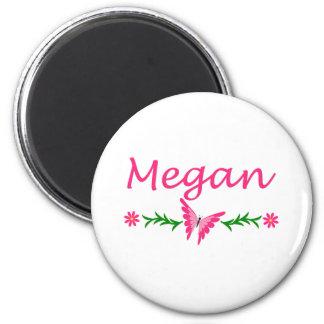Megan (mariposa rosada) imán redondo 5 cm