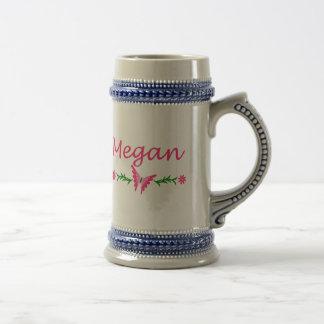 Megan (mariposa rosada) jarra de cerveza