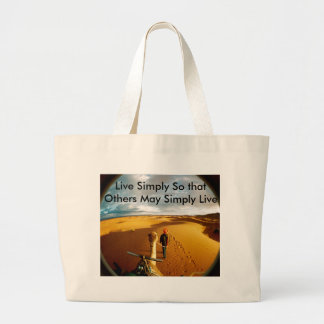 Megan Meets World, Live Simply So that Others M... Jumbo Tote Bag