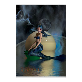 megan mermaid poster