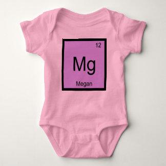 Megan Name Chemistry Element Periodic Table Baby Bodysuit