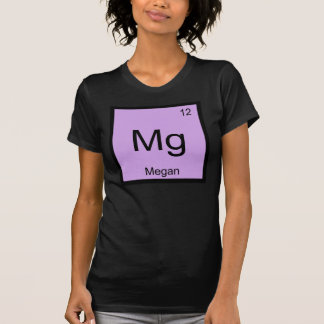 Megan Name Chemistry Element Periodic Table T-Shirt