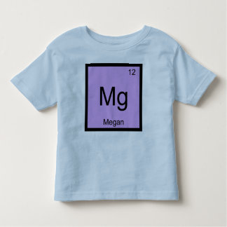 Megan Name Chemistry Element Periodic Table Toddler T-shirt