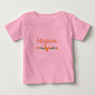Megan (Orange Butterfly) Baby T-Shirt
