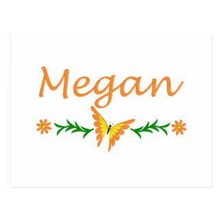 Megan (Orange Butterfly) Postcard