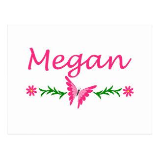 Megan (Pink Butterfly) Postcard