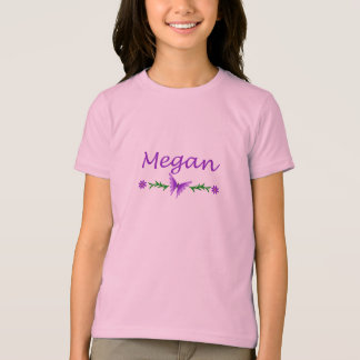 Megan (Purple Butterfly) T-Shirt