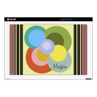MEGAN Retro 70s Groovy Dots Pattern Decals For Laptops