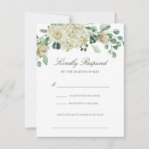 Megan Roses Greenery Song Request Wedding RSVP