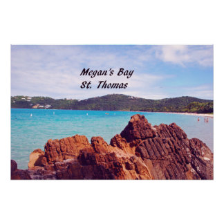 Megan's Bay St. Thomas Poster