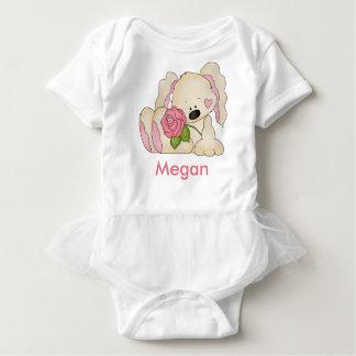 Megan's Personalized Bunny Baby Bodysuit