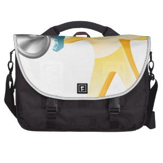 Megaphone gold person laptop shoulder bag