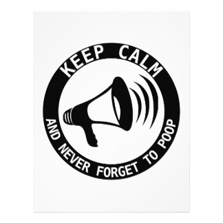 Megaphone Keep Calm And Never Forget Letterhead