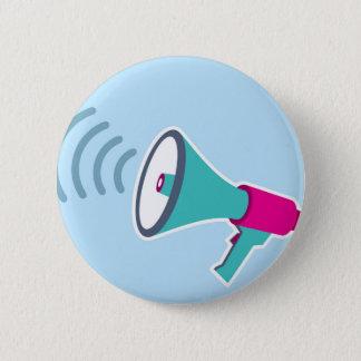 Megaphone Pinback Button