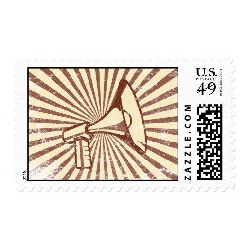 Megaphone Postage Stamp